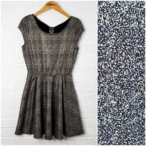 A. Byer fit and flare sparkle dress with bow back